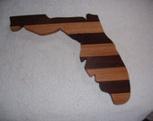 State of Florida  cutting board - made of walnut and oak