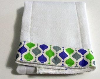 Argyle Baby Burp Cloth