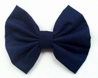 Navy Hair Bow Girly Women's Girl's hairbow