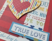 LOVE Cards, Circus Colors, Primary Colors, Dimensional Accents