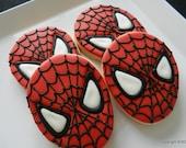 Spider Face- Spidey-Super hero  Cookies- hand decorated sugar cookies (#2351)