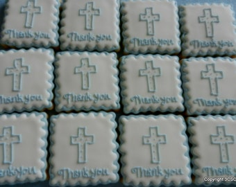 Thank you cookies for special events baptism weddings communion showers (#2316)