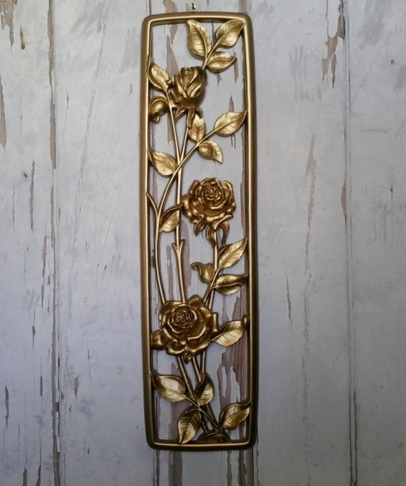 Hollywood regency gold decor by dart vintage by for Hollywood regency wall decor