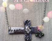 Solder side cross necklace