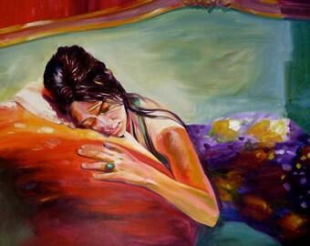 PORTRAIT COMMISSION, personalized painting,custom painting,original painting order,figure paitning