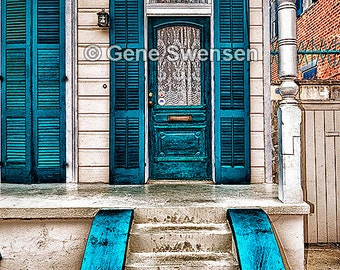 New Orleans French Quarter Door Series - Available Sizes (5x7) (8x12) (12x18) (16x24) (20x30) (24x36)