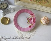 Pink Floral Dollhouse Plate
