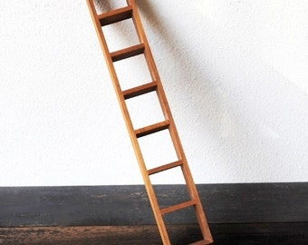 Vintage Wood Shelf Ladder, Shadow Box Display