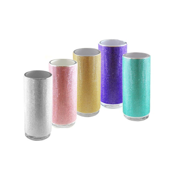 21 X 9 Diamond Vase Wrap Sticker Rhinestone