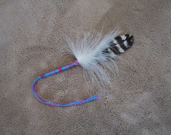 Small Fluff Smudging Feather  - 5.5 inch