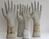 Vintage porcelain glove mold