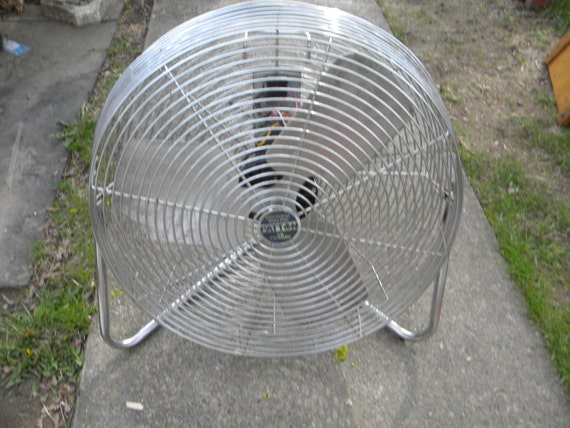 Patton Floor Fan : Nice strong vintage inch high velocity speed chrome