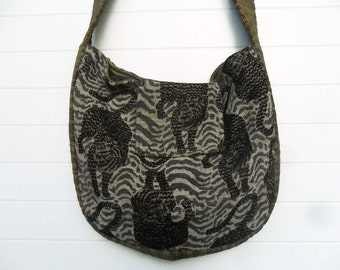 Bohemian Bag Purse Safari Leopard Tiger Animal Print Messenger Crossbody
