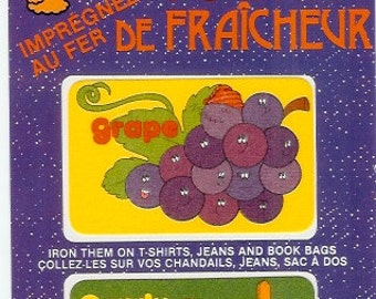 Grape and Candy Apple Iron On Smelly Patches by Sniffy