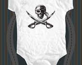 Pirate Skull 1 baby One-piece or tee - printed on Infant Baby One-piece, Infant Tee, Toddler T-Shirt