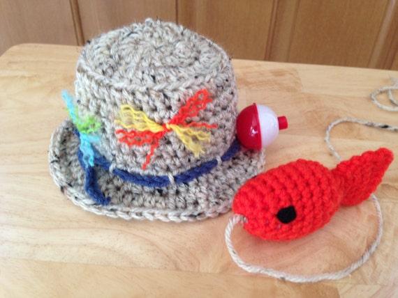 Items similar to baby fishing fisherman crochet hat fish for Baby fishing hat