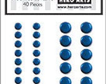 SALE Hero Arts Blue Metallic Decor Embellishments CH190 Retired