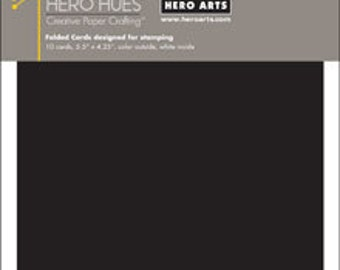 Hero Arts Black NoteCards Folded Cards PS688