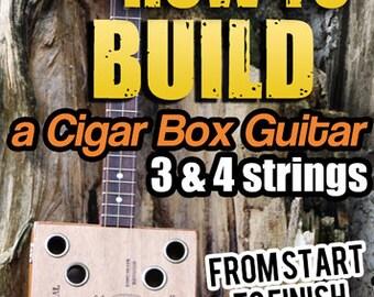 How to Build Cigar Box Guitars DVD video on Retro Americana Handmaking sign Blues & Slide rustic homemade 3 or 4 string guitars