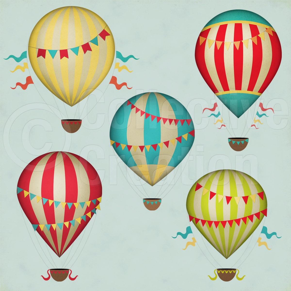 Conjunto de globos de aire caliente Vintage por ...