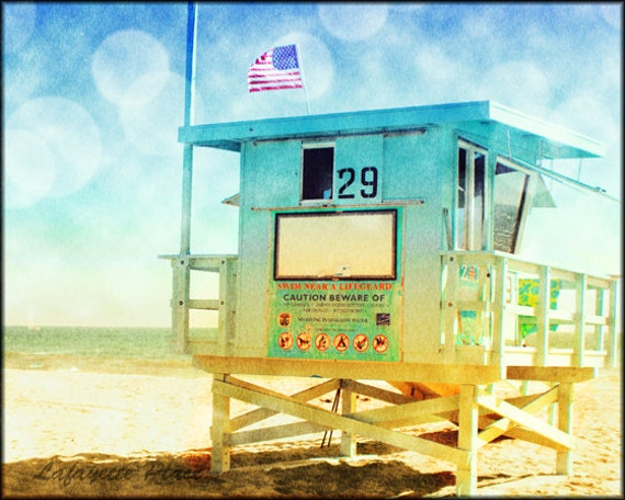 Beach Photography Lifeguard Tower California Photography