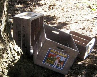 Large Custom Labeled Wood Crate