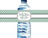 75 Waterproof Water Bottle Labels - Printed labels with your colors