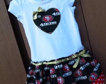 San Francisco 49ers inspired cheerleader dress