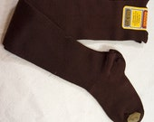 Vintage NOS  xs 1920s Buster Brown Hosiery KNEE-HIGH over the knee, stripe Cotton dress socks