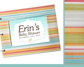 Baby Shower Guest Book - Summer Paster Stripes