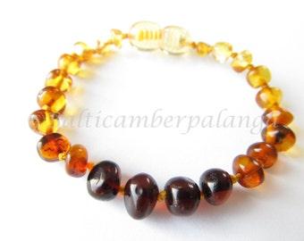 Baltic Amber Baby Teething Bracelet/Anklet