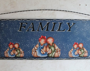 Family Metal Sign...Gingerbread Kitchen Decor...Housewarming Decor...Ginger Lover...Country Kitchen. Gingerbread Kitchen. Wall Decor