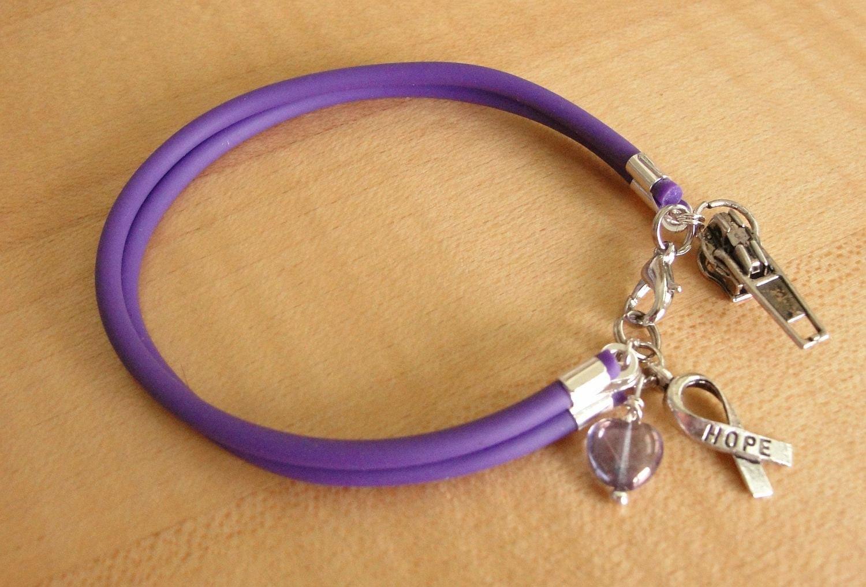 Chiari Awareness Bracelet / Anklet with Zipper charm
