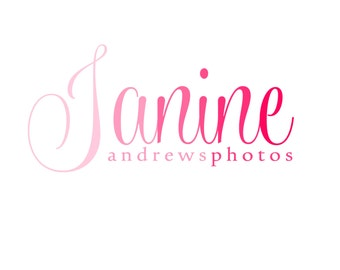 Custom Logo Designer Premade Logo Design and Watermark for Photographers and Small Business Owners Pink Ombre Script