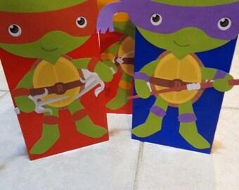 Ninja turtles  Favor Bags Full body