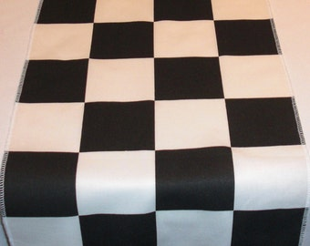 Checkered Squares Table Runner