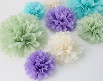 Wedding Centerpiece Kit ..20 Paper Flowers (Pick your Colors) Wedding reception, birthday party, baby shower decorations