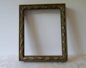 Picture Frame Vintage Open Back Art Frame Carved Wood Rustic