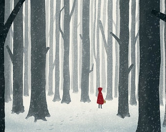 Little Red Riding Hood - Illustration Print