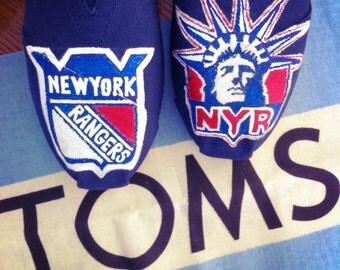 Custom NY Rangers TOMS Lady Liberty Hockey