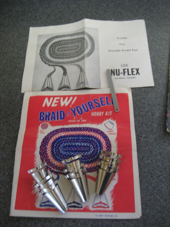Nuflex Rug Braiding Kit And Patterns For Braided Rugs Vintage