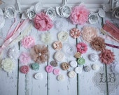Shabby Chic Headband Kit  - DIY Headbands, Baby Shower or Birthday Party (10 Count) MORE counts at www.lb-boutique.com