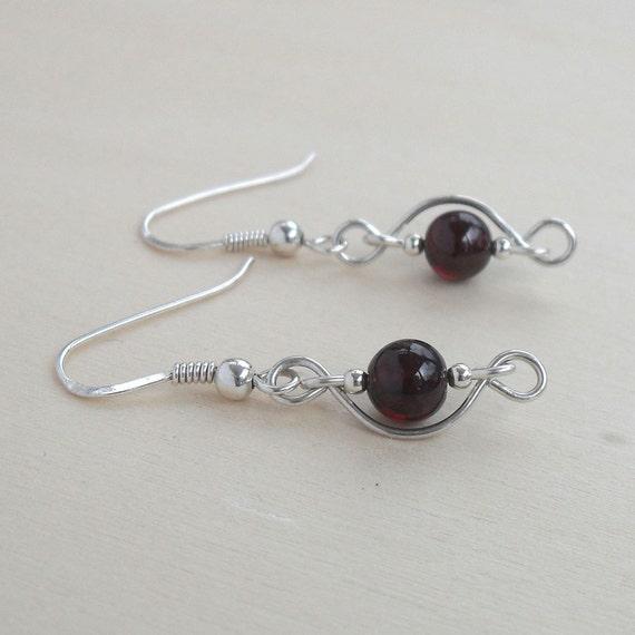 beaded dangle earrings wire wrapped by