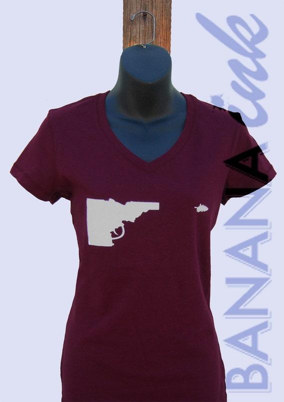 Idaho Gun Tee- Ladies -BANANA ink