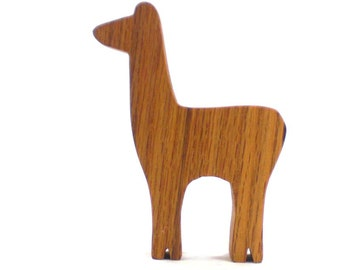 Natural Wood Childrens Toy - Llama Toy or Alpaca Toy, Farm Animal Toy, Wooden Toy, Wooden Animal Toy