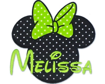 Instant Download - Minnie mouse ears 044 - Machine Embroidery Design - Applique Design