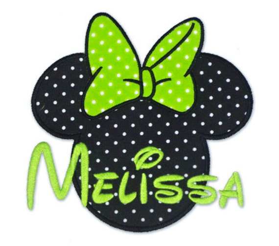 Instant download minnie mouse ears machine embroidery