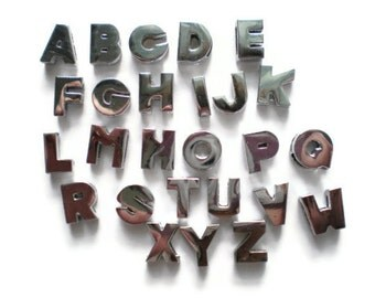 8mm Slide Charm Alphabet Letters - Fit 8mm Strap - Slider Charms - Personalize Charms