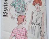 Butterick Vintage 1960's Sewing Pattern 8949 Cropped Blouse Quick 'N Easy