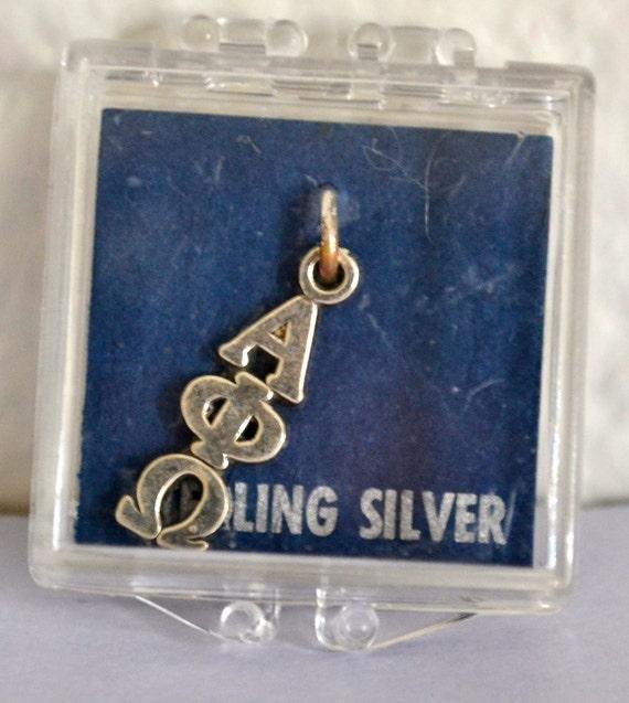 Sterling Silver SORORITY Pendant, Alpha/Phi/Omega, Summer Sale, Item No. S027